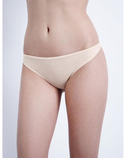 Hanro - Natural Ultralight Cotton Thong - Lyst