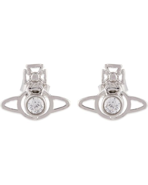 Vivienne Westwood | White Nora Orb Earrings | Lyst