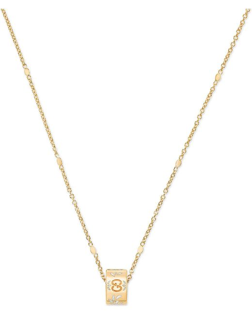 Gucci - Metallic Icon Blossom 18ct Yellow Gold Necklace - Lyst