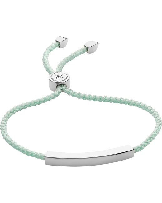 Monica Vinader - Multicolor Linear Woven Sterling Silver Friendship Bracelet - Lyst