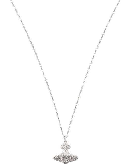 Vivienne Westwood | Metallic Grace Small Pavé Orb Necklace | Lyst