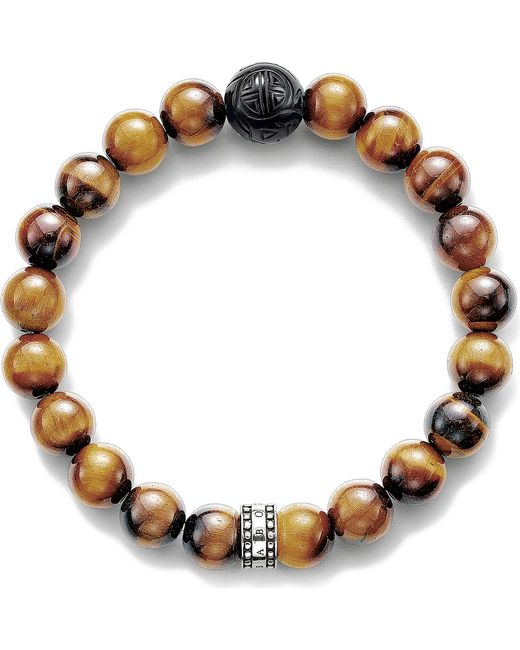Thomas Sabo - Brown Rebel At Heart Tiger`s Eye Bracelet - Lyst