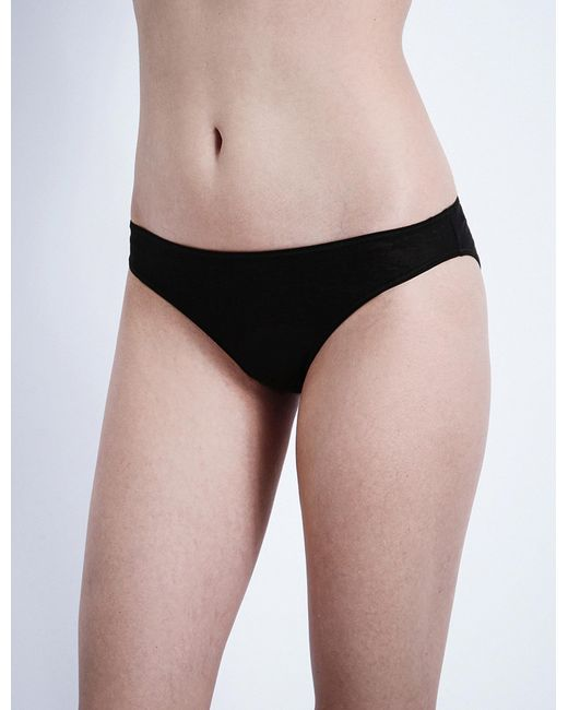 Hanro | Black Ultralight Cotton-jersey Mini Briefs | Lyst