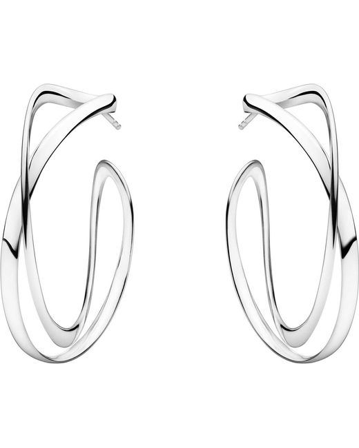 Georg Jensen | Black Infinity Sterling Silver Earrings | Lyst