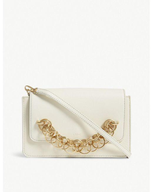 Chloé - Multicolor Natural White Drew Bijou Leather Clutch Bag - Lyst