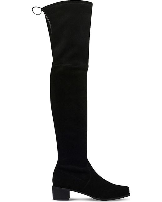 Stuart Weitzman | Black Midland Suede Over-the-knee Boots | Lyst