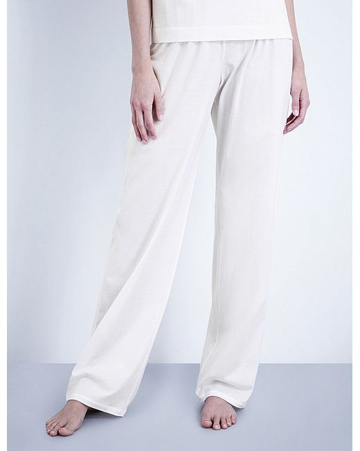Hanro | White Deluxe Cotton-jersey Pyjama Bottoms | Lyst