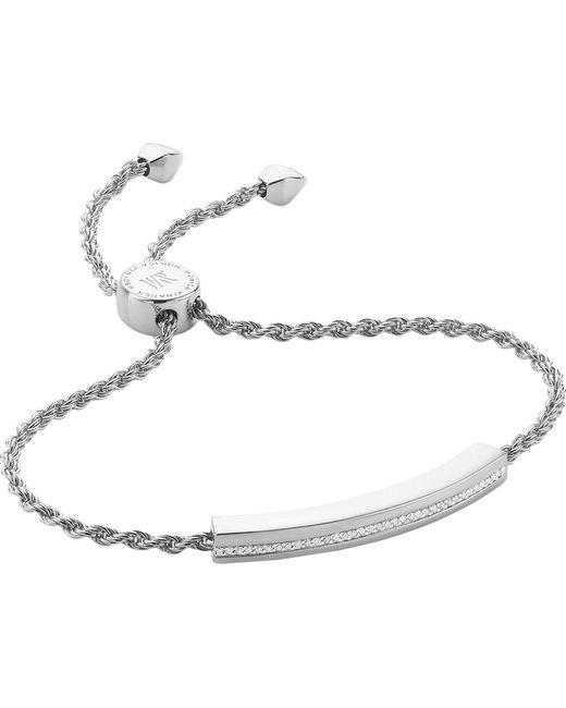 Monica Vinader - Metallic Linear Chain Bracelet - Lyst