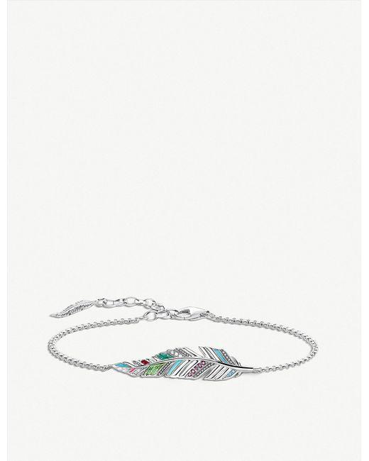 Thomas Sabo - Metallic Tropical Feather Sterling Silver Bracelet - Lyst