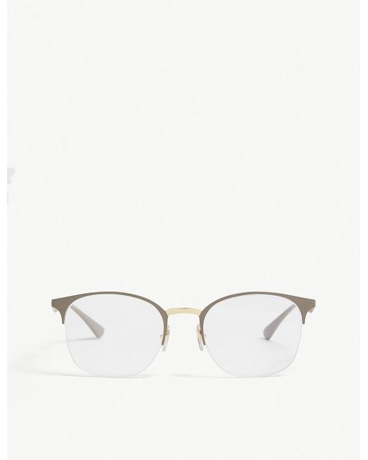 b7fbbe81a9a Ray-Ban Rx6422 Square-frame Optical Glasses in Metallic for Men - Lyst