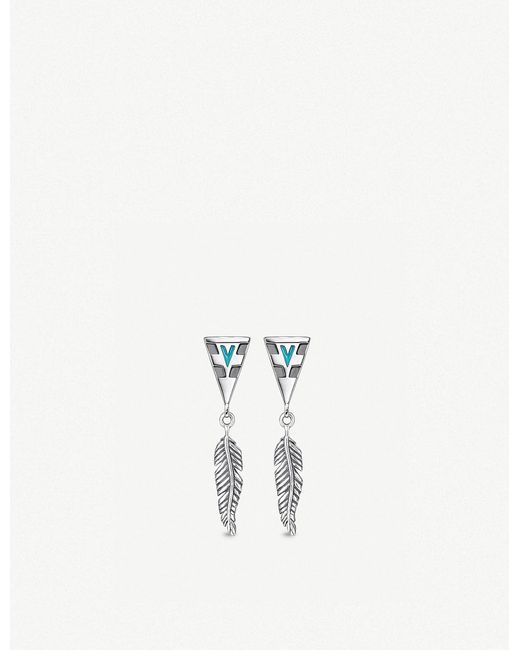 Thomas Sabo - Metallic Tropical Sterling Silver Feather Earrings - Lyst