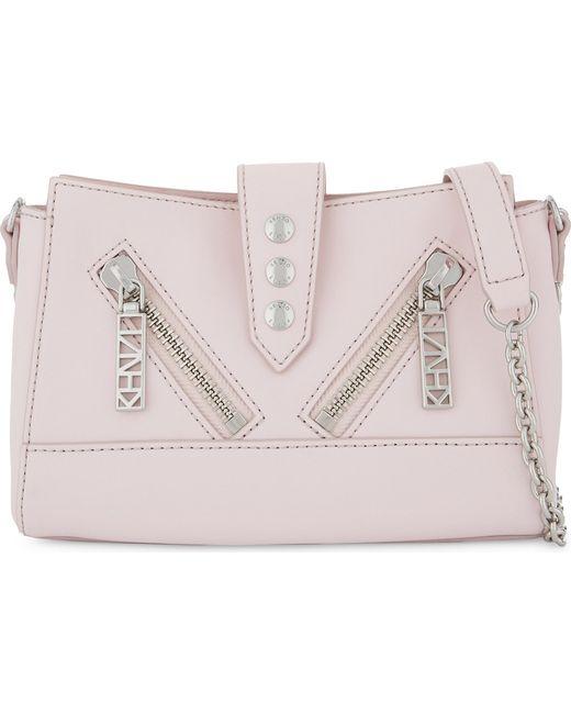 KENZO - Ladies Pink Vibrant Modern Kalifornia Leather Mini Cross-body Bag - Lyst