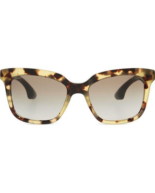 408e9f7f47 Miu miu Mu09ps The Collection Square-frame Sunglasses in Grey (grey)
