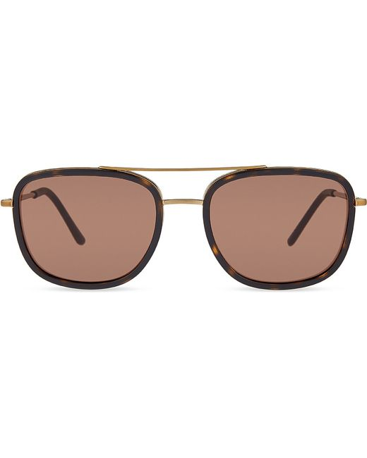 Square Gold Frame Sunglasses : Burberry B3085-q Tortoiseshell Square-frame Sunglasses in ...