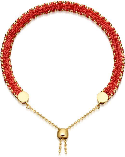 Astley Clarke | Metallic Kula Biography 18ct Yellow-gold Vermeil Hot Coral Bracelet | Lyst