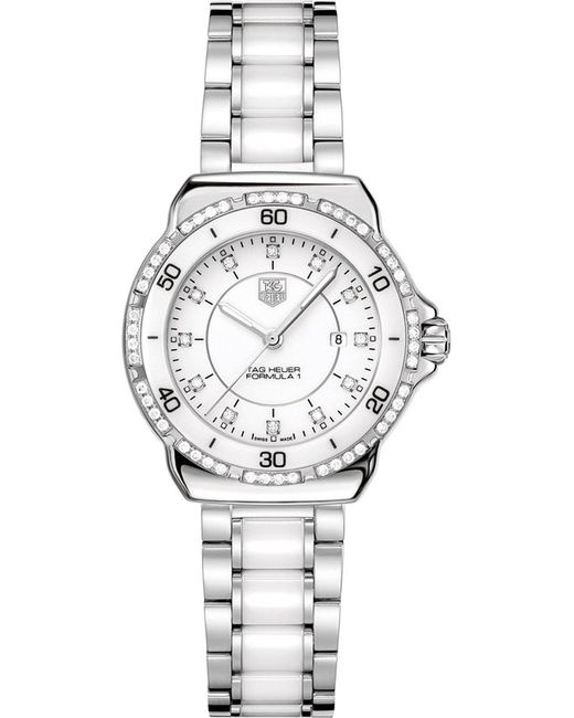 Tag Heuer - Metallic Formula 1 Steel Ceramic Diamonds Dial & Bezel Watch 32mm - Lyst