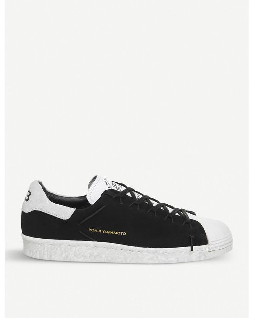 ba92b6812 Lyst - Y-3 Y-3 Superstar Knot Suede Low-top Trainers in Black for Men