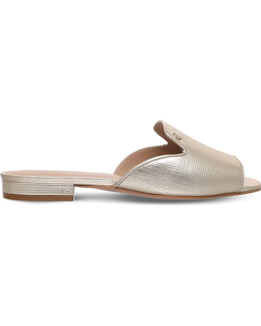 Kurt Geiger | Ivy Metallic Leather Sandals | Lyst