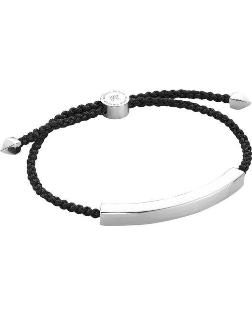 Monica Vinader - Metallic Linear Sterling Silver Friendship Bracelet for Men - Lyst