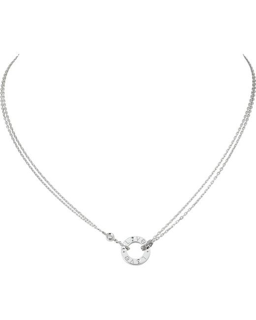 Cartier - Metallic Love 18ct White-gold And Diamond Necklace - Lyst