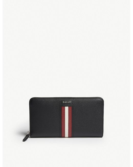 Bally - Black Telen Long Leather Wallet for Men - Lyst