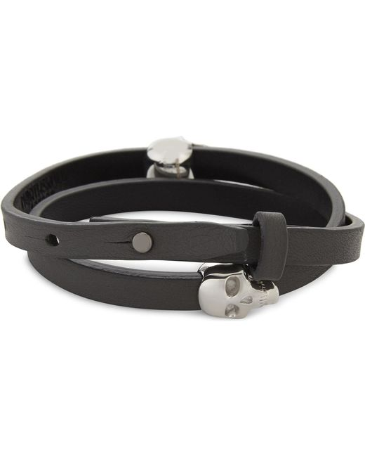 Northskull - Metallic Atticus Skull Double Wrap Bracelet for Men - Lyst