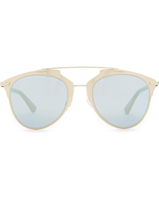 Dior | Metallic Reflected Oval Sunglasses | Lyst