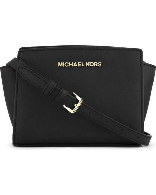 MICHAEL Michael Kors - Black Selma Mini Cross-body Satchel - Lyst