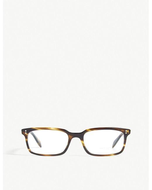 78de807499 Lyst - Oliver Peoples Denison Square-frame Optical Glasses in Brown