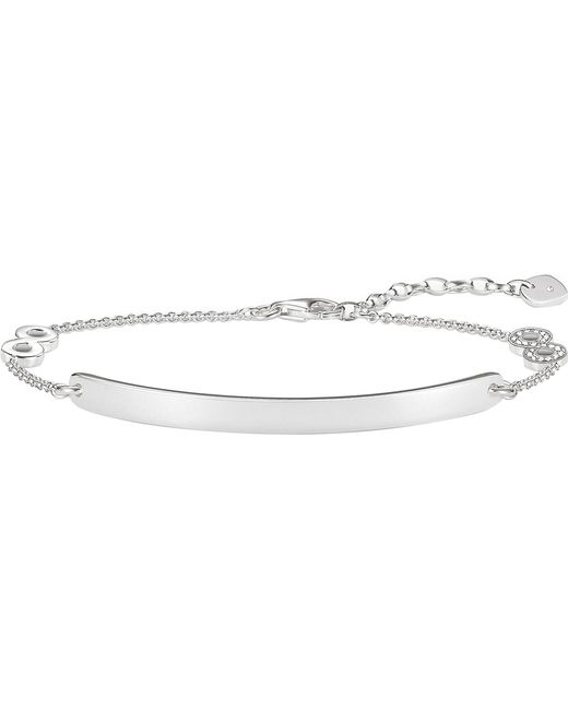 Thomas Sabo - Metallic Love Bridge Infinity Diamond Bracelet - Lyst