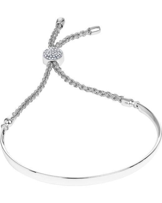 Monica Vinader - Metallic Fiji Diamond Pavé Sterling Silver Friendship Bracelet - Lyst