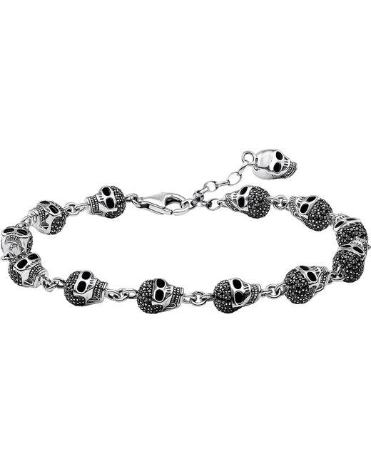 Thomas Sabo - Metallic Rebel At Heart Zirconia And Sterling Silver Bracelet - Lyst