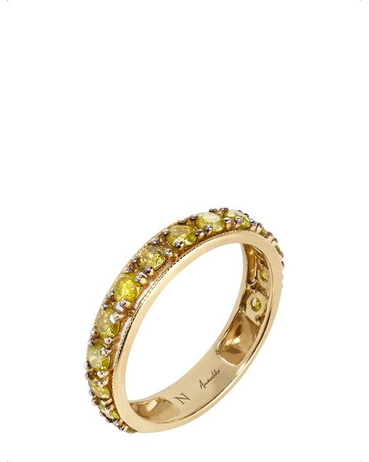 Annoushka - Dusty Diamonds 18ct Yellow-gold And Diamond Eternity Ring - Lyst