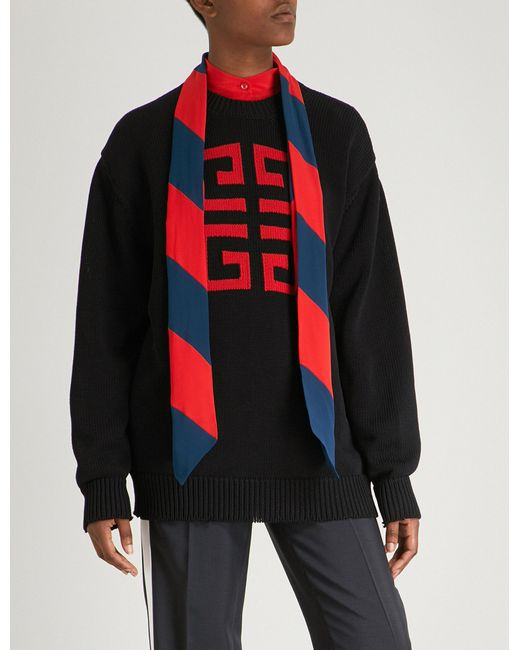 1a447645 Lyst - Givenchy Logo Cotton Jumper in Blue for Men
