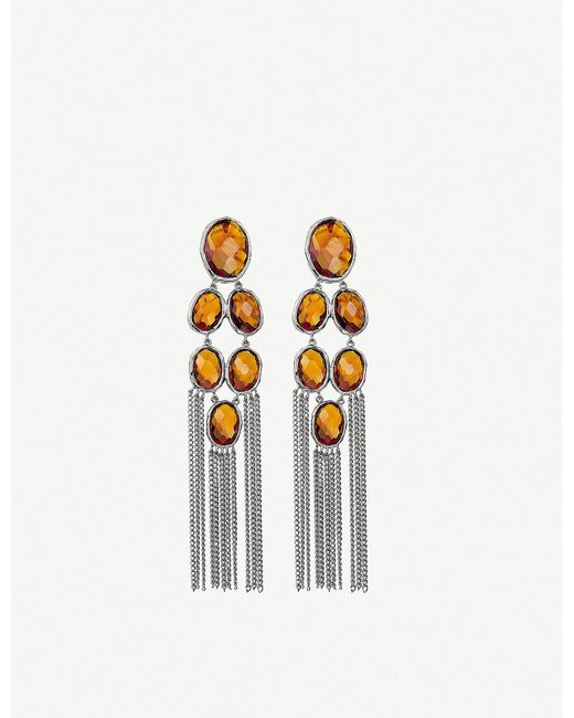 Gucci | Orange Raindrop Sterling Silver Drop Earrings | Lyst