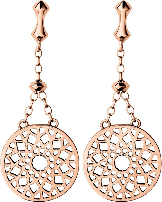 Links of London   Pink Timeless 18ct Rose-gold Vermeil Earrings   Lyst