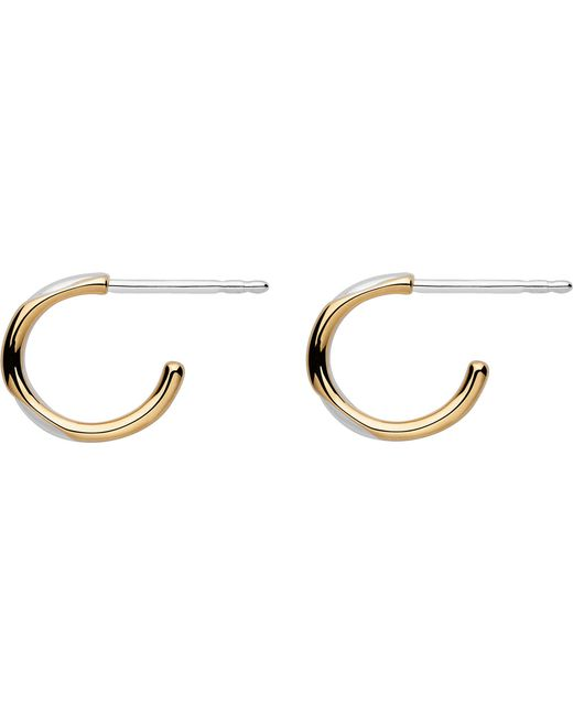 Links of London | Metallic 20/20 Sterling Silver And Yellow Gold Mini Hoop Earrings | Lyst