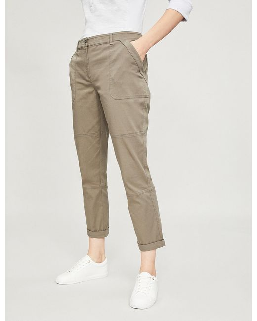 The White Company - Multicolor Carpenter Cropped Stretch-cotton Cargo Trousers - Lyst