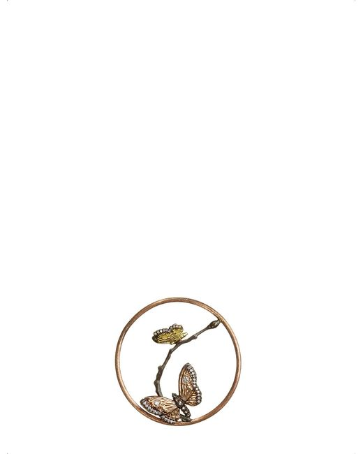 Annoushka | Metallic Butterflies Hoopla 18ct Rose-gold And Diamond Pendant | Lyst