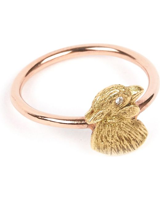 Annina Vogel - Metallic 9 Carat Rose Gold And Diamond Chick Ring - Lyst