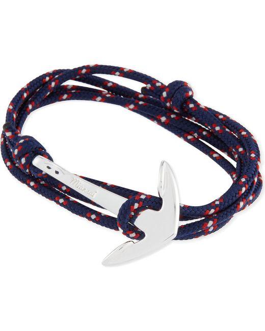 Miansai | Black Anchor Rope Bracelet for Men | Lyst