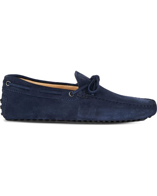 Tod's - Blue Gommino Heaven Driving Shoes In Suede for Men - Lyst