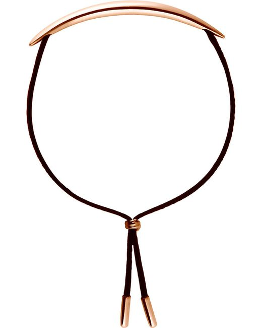 Shaun Leane - Metallic Quill Rose Gold Vermeil And Leather Bracelet - Lyst