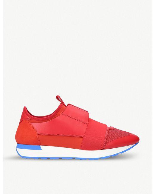 Balenciaga - Red Race Runner Sneakers for Men - Lyst