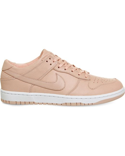 Nike | Pink Dunk Low-top Leather Trainers | Lyst