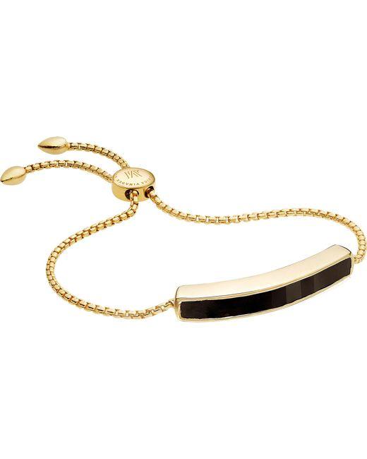 Monica Vinader - Metallic Baja 18ct Gold-plated Vermeil And Black Onyx Bracelet - Lyst