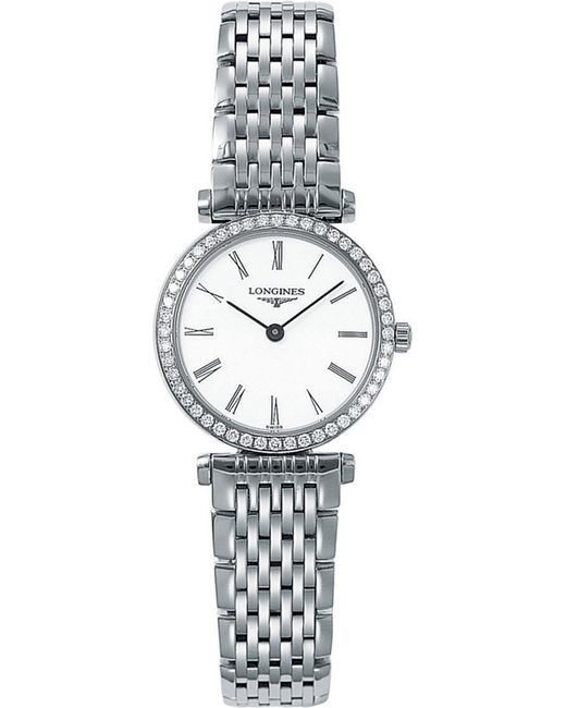 Longines - Metallic Ladies La Grande Classique Quartz Watch With Diamond Bezel - Lyst