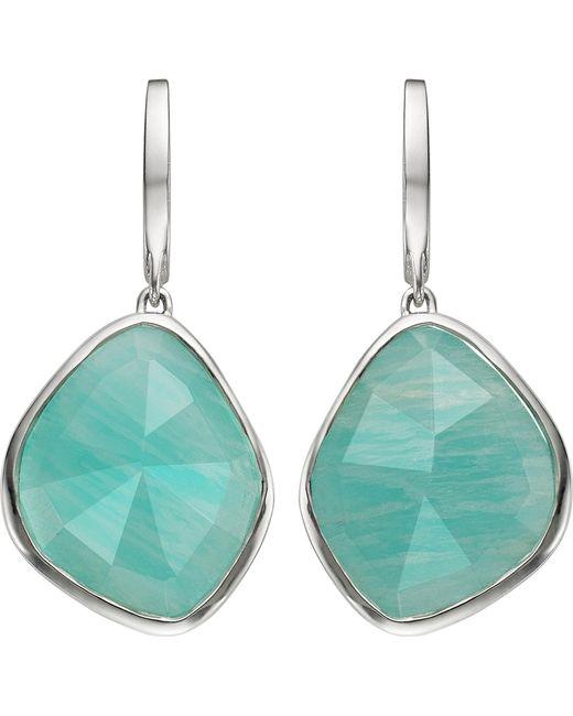Monica Vinader - Metallic Siren Sterling Silver Amazonite Nugget Earrings - Lyst