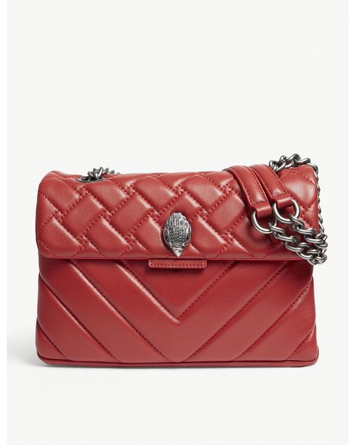 Kurt Geiger - Ladies Red Kensington Quilted Leather Cross-body Bag - Lyst