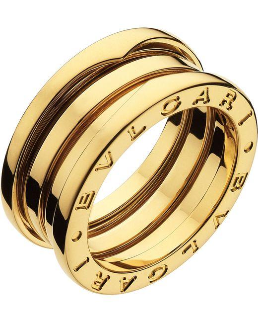 BVLGARI   B.zero1 Three-band 18kt Yellow-gold Ring   Lyst